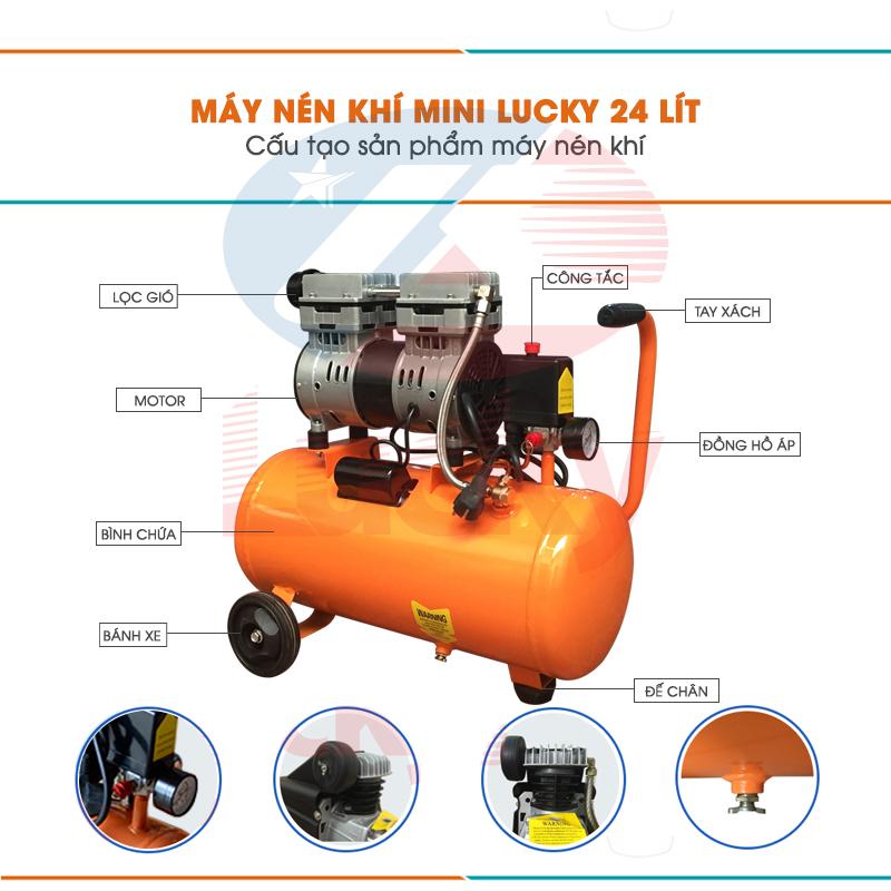 máy nén khí mini không dầu