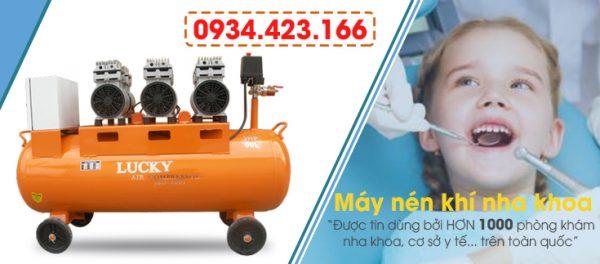 máy nén khí không dầu dùng trong nha khoa