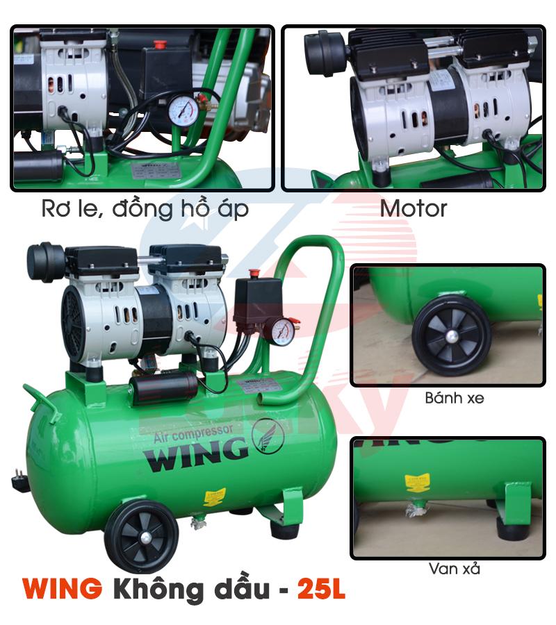 máy nén khí không dầu wing